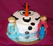 Bolo do Olaf - Frozen