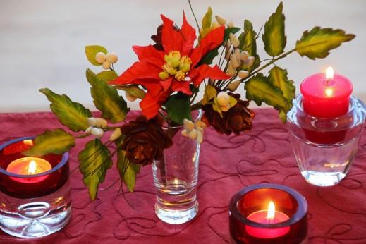 sugarpaste christmas flowers