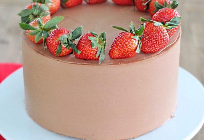 Chocolate Strawberry Nutella Cake Cake By Courtney