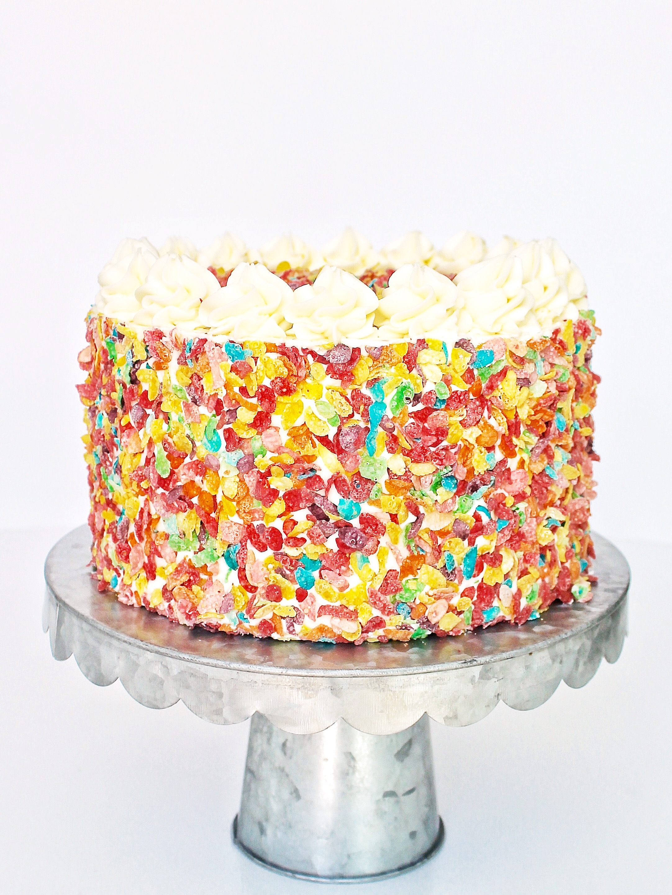 Fruity Pebbles Cake Cake By Courtney