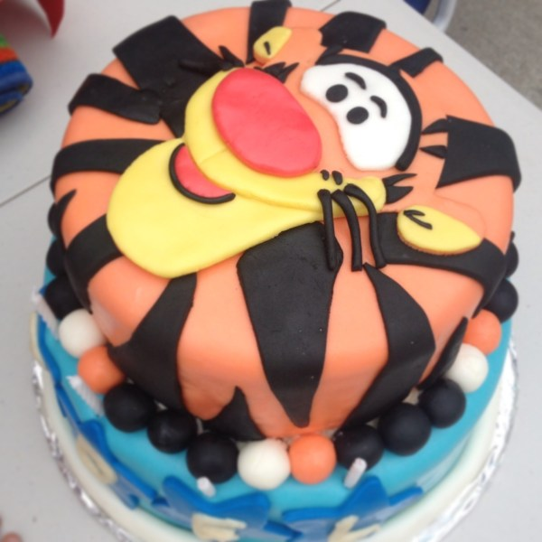 Tigger Birthday Cake Toppers