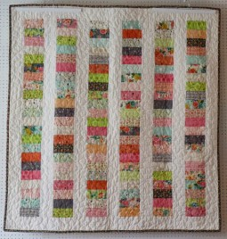Coin quilt throw - front