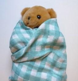 Double gauze swaddling blanket