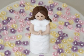 Fondant Cake Topper - Communion Girl