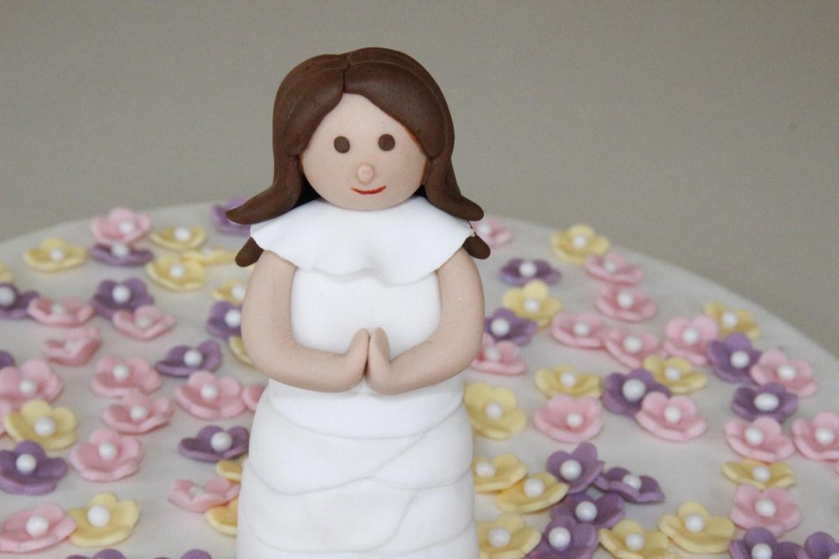 Fondant Cake Topper - Communion Girl