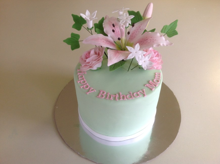 Magnificent Spring Flower Birthday Cake Cake Celebrations Monroe Ny Funny Birthday Cards Online Elaedamsfinfo