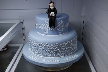 Damask Communion Cake