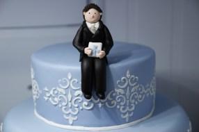 Damask Communion Cake