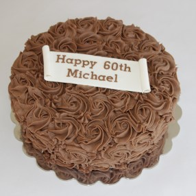 Mocha Frosting Rose Cake