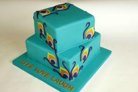 Peacock Themed Cake