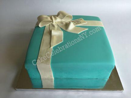 Tiffany Gift Box Cake