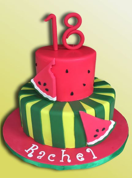 18th Birthday Cake Watermelon Theme
