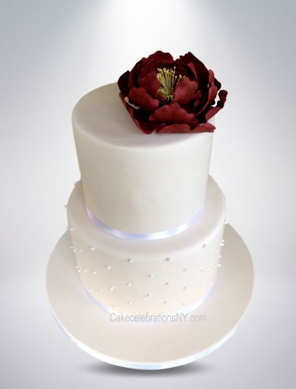 Bridal-Shower-Cake-With-Peony