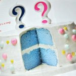 Nieuw!   'Gender Reveal' party taart