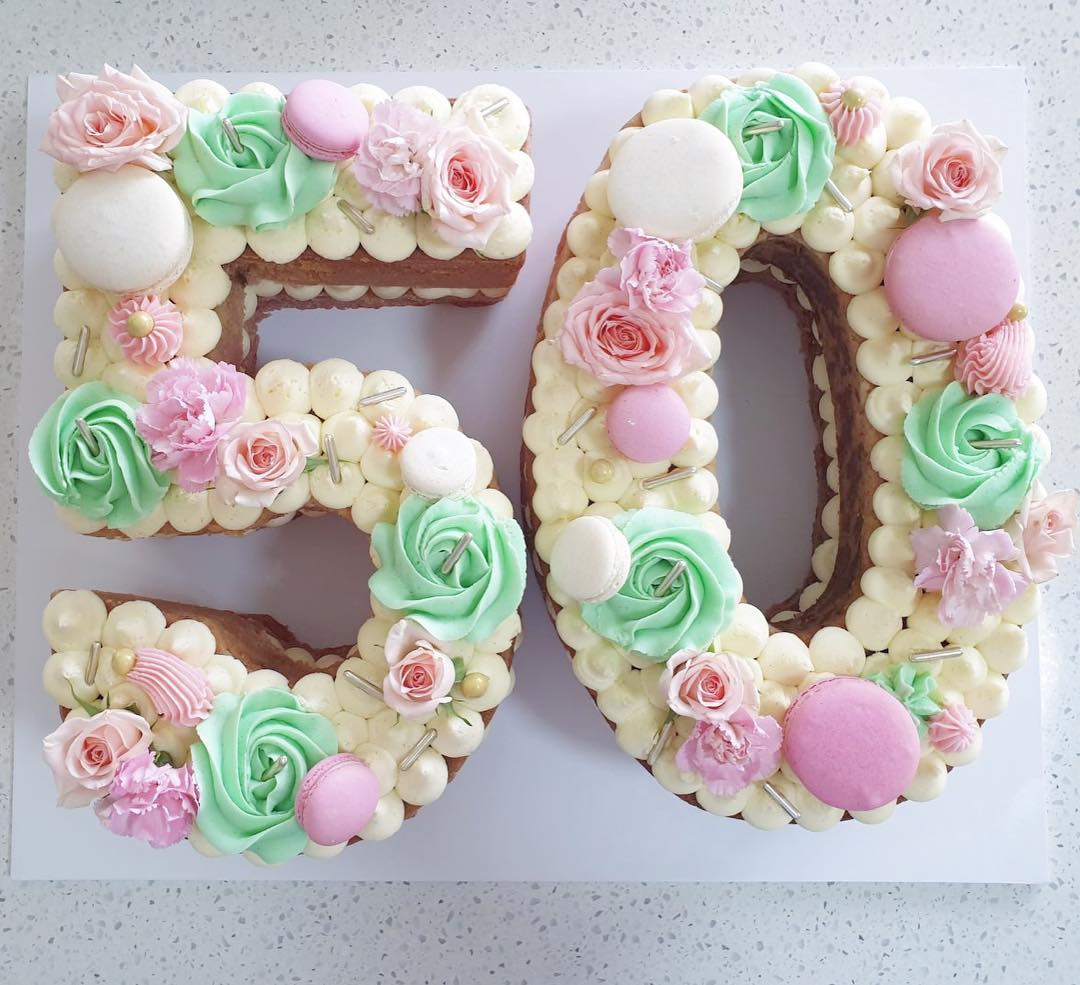 number letter cakes caked by beck