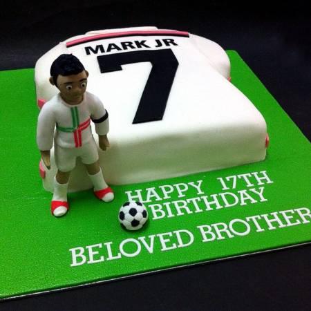 Handcraft Sweet Football Soccer Fondant Cake Kljbpenang Cake For