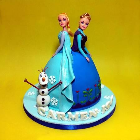 Selangor Top Quality Handmade 3d Frozen Elsa Anna Birthday Cake
