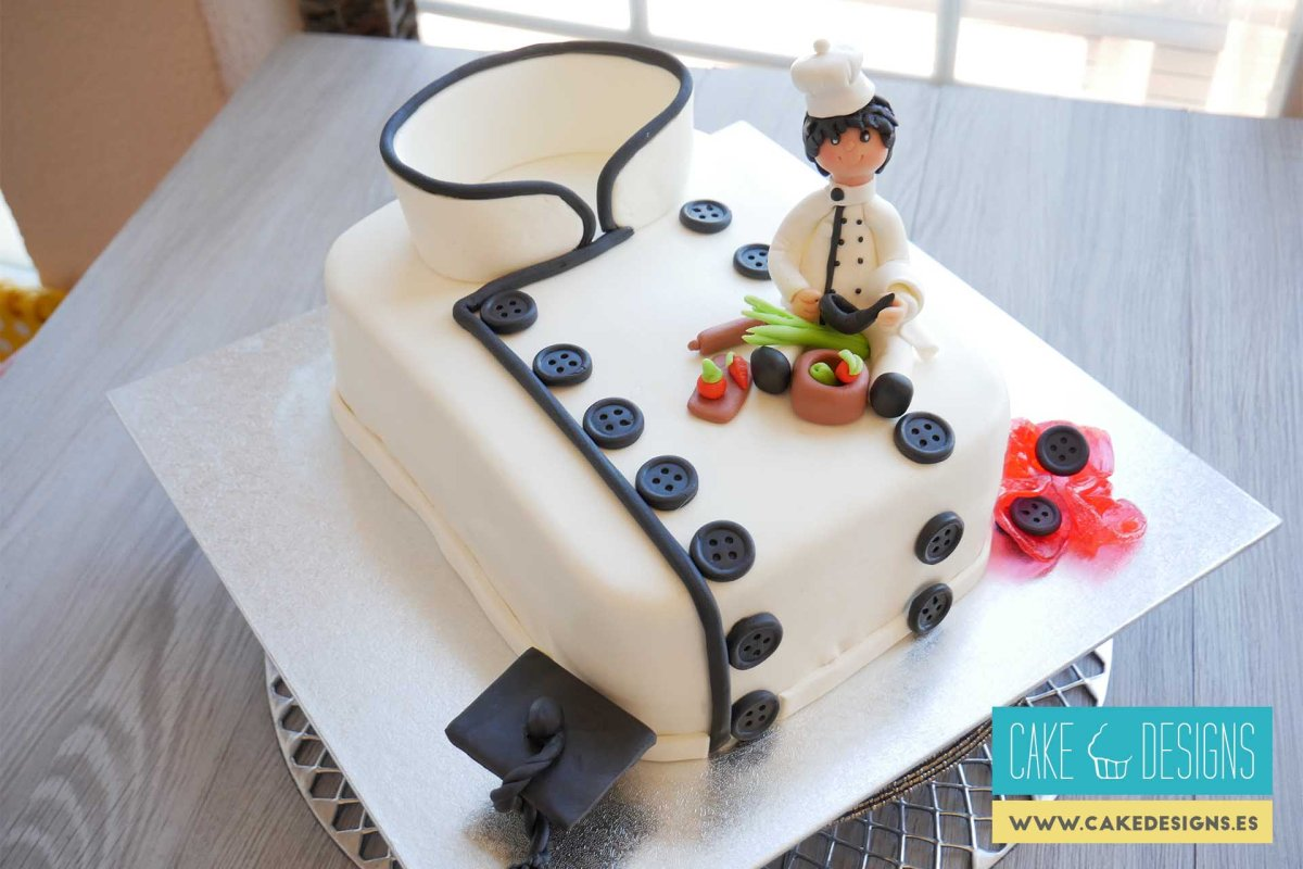Tarta uniforme de Chef