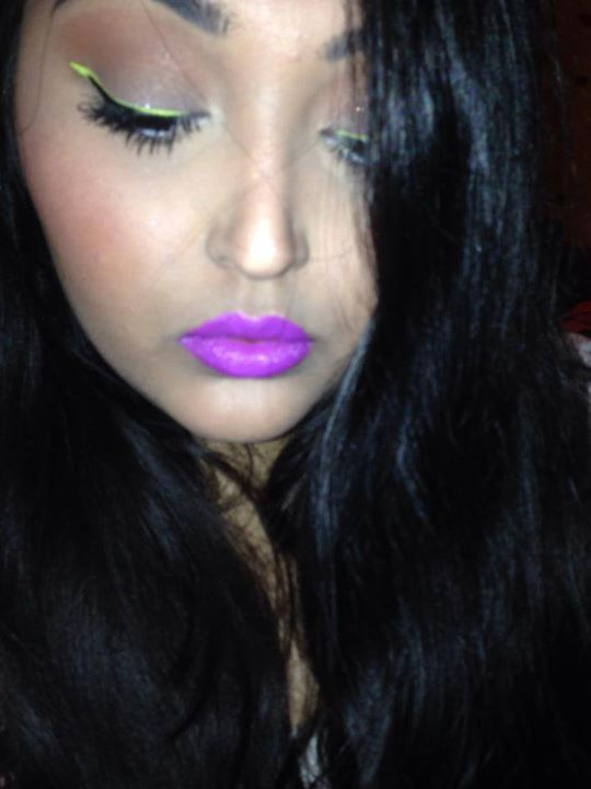 Neon Liner Purple Lips, OCC hoochie, lime crime citreuse