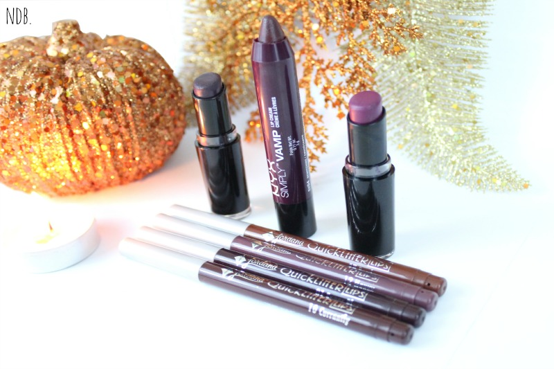 Fall 2014 drugstore lip products, NYX, Jordan lip liners, Fall lip colors