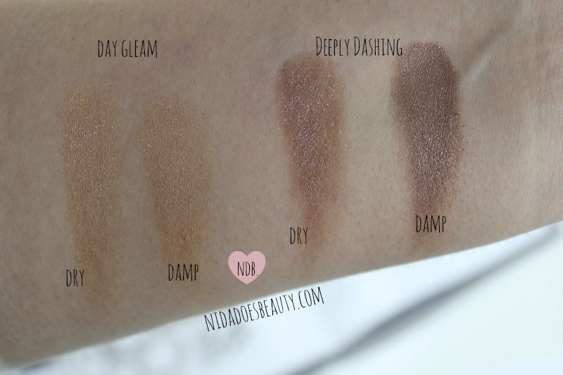 MAC Pressed Pigment, Day Gleam, Deeply Dashing, Review, Beauty, Makeup, Blog, Swatch