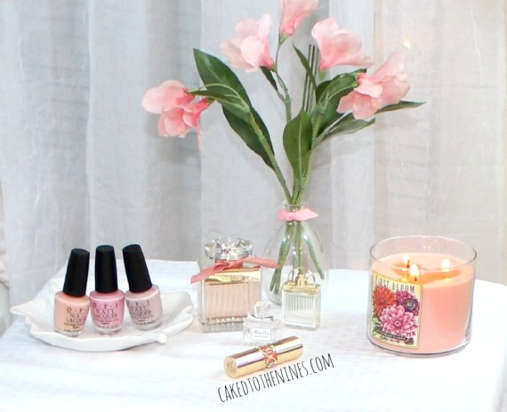 OPI nail polishes left to right: Passion, Pink Friday, My Very First Knockwurst | Roses de Chloe, Chloe Love Story, Miss Dior Blooming Bouquet | YSL Rouge Volupte 13 Peach Passion, Spring makeup, spring beauty, spring beauty essentials, spring cleaning,