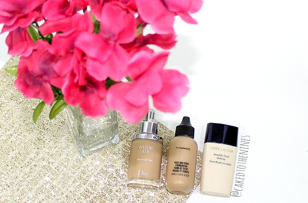 Natural foundations, sheer foundation, your skin but better foundation, Diorskin Nude Air Serum Foundation, MAC Face and Body, and Estee Lauder Invisible Fluid Makeup