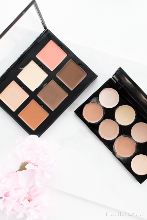 Drugstore vs High End Cream Contour Palette comparing the Anastasia Beverly Hills Cream Contour Kit and Makeup Revolution Ultra Cream Contour Palette