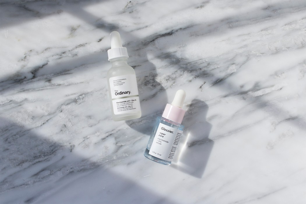Glossier Super Pure vs The Ordinary Niacinamide and Zinc Serum