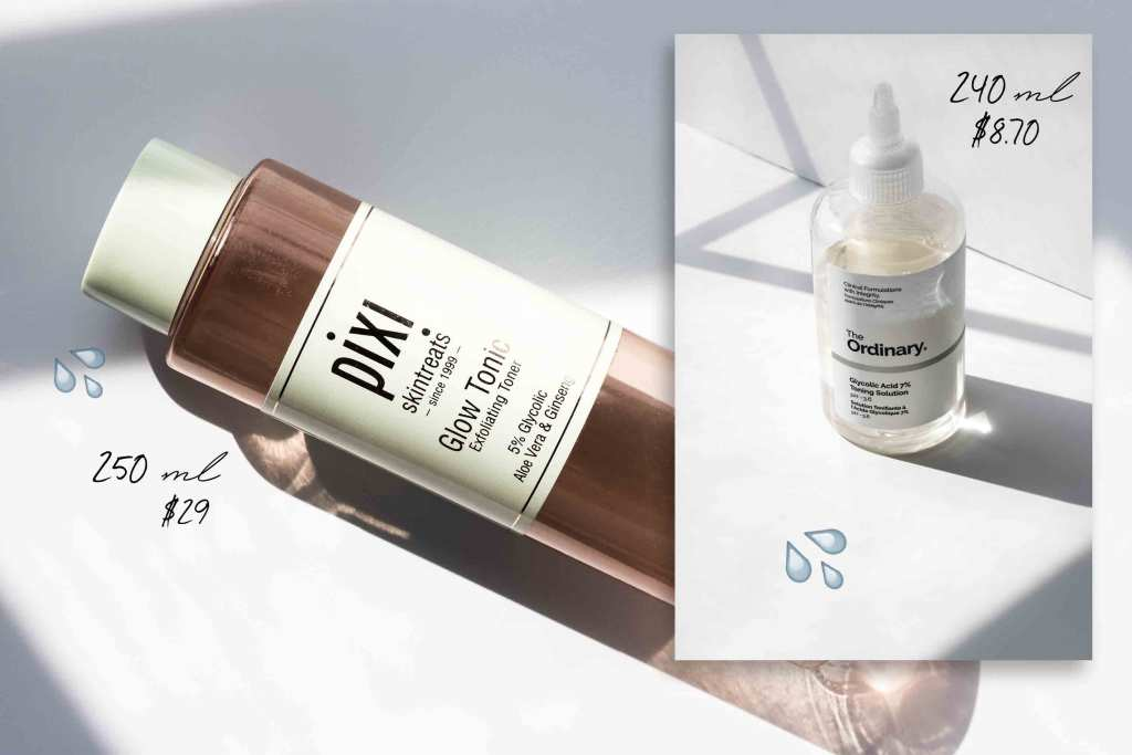 The Ordinary Glycolic Toner vs Pixi Glow Tonic dupe