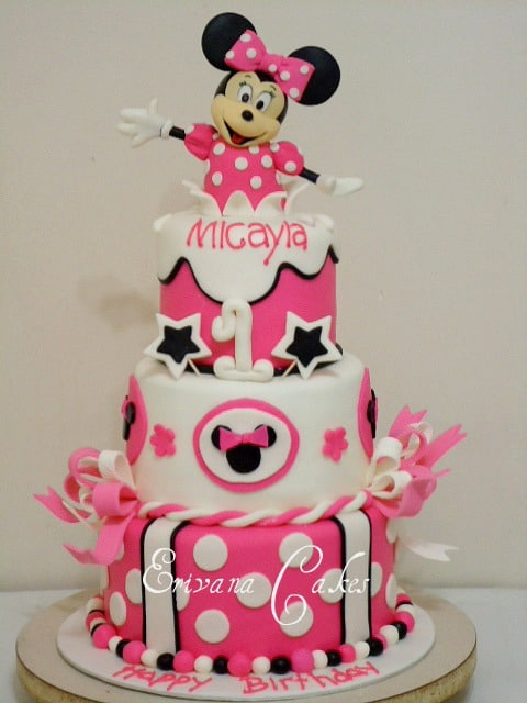 Minnie Mouse Birthday Cake By Erivana Cakes
