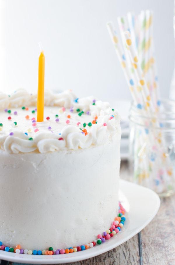 Vegan Vanilla Birthday Cake The Cake Merchant