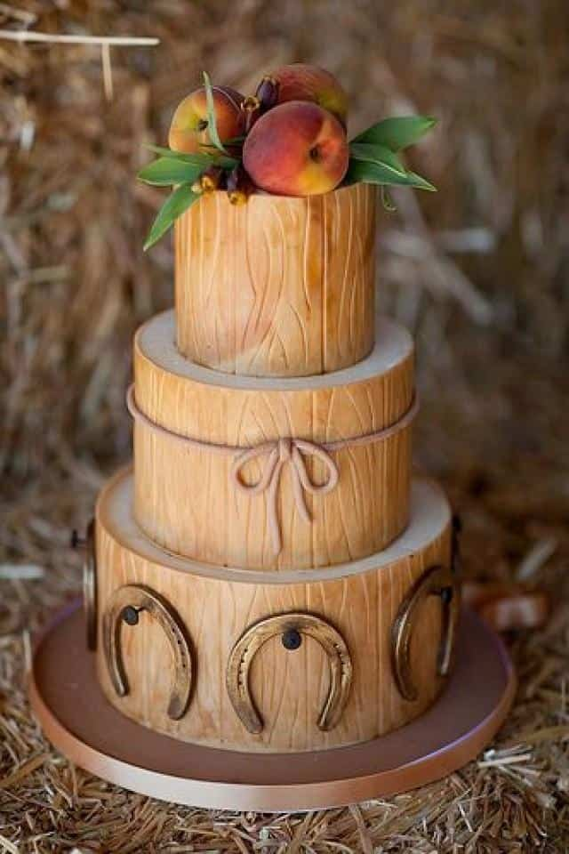 Rustic Wedding Style with Fruit Topping