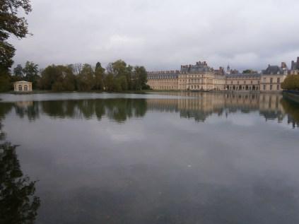 View across the carp pond