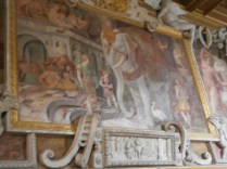 Fresco with an elephant (apparently highly symbolic...)