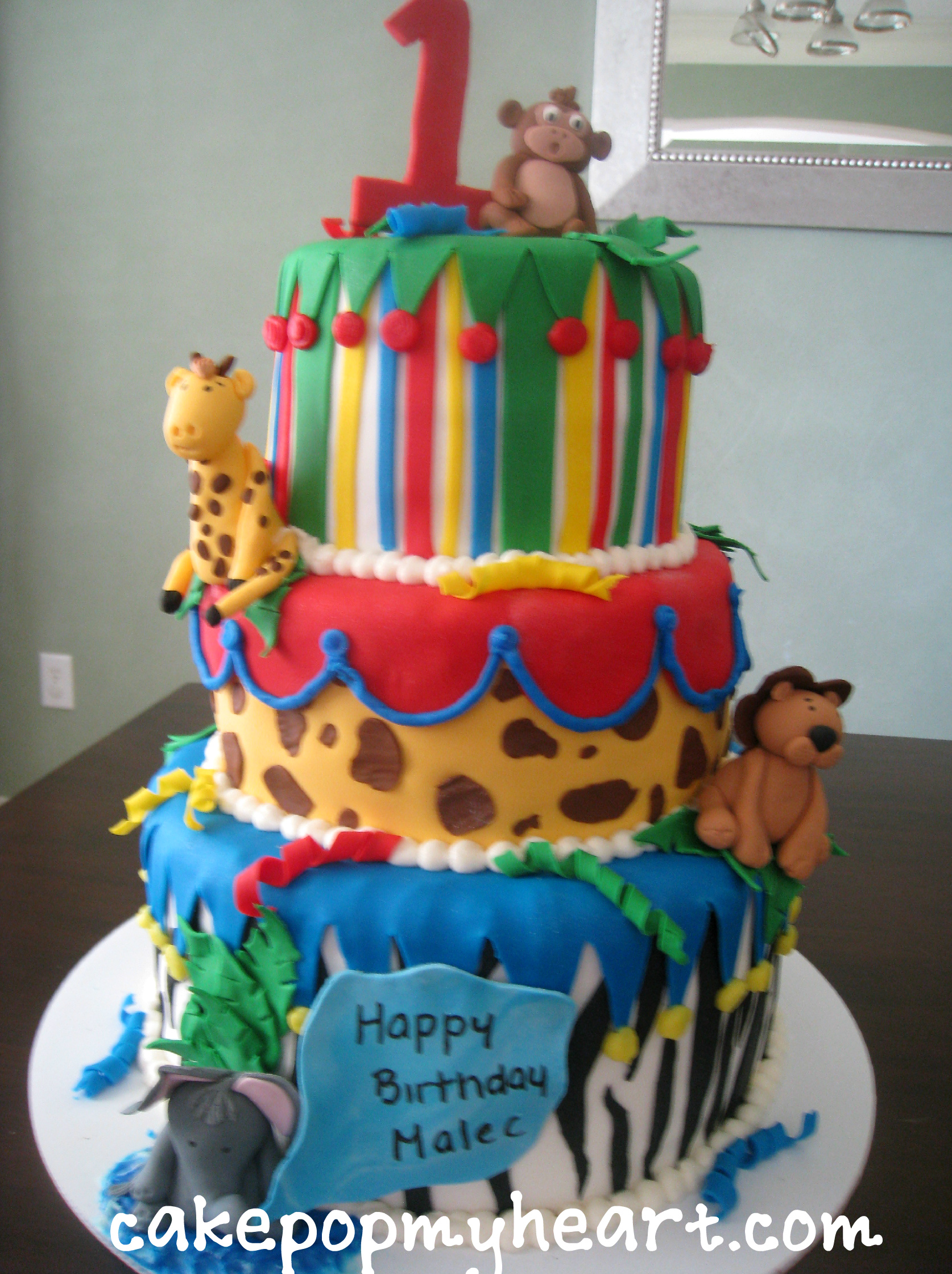 Jungle Themed Cakes And Cake Pops