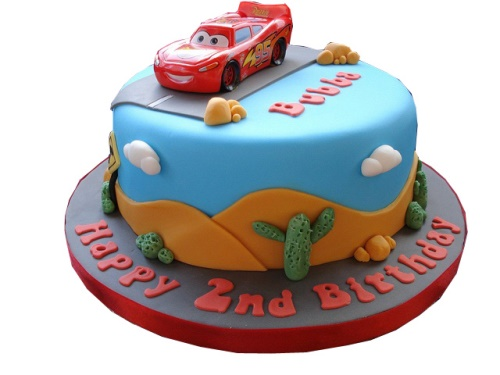 Birthday cake designs for a 2 year old boy sippy cup mom. Cars Cake