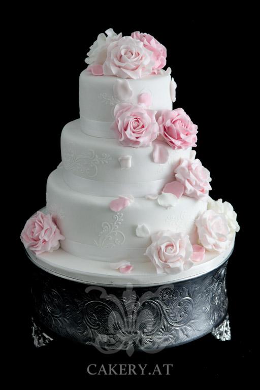 Hochzeitstorte  Pink Roses  RITAThe Cakery Torten der