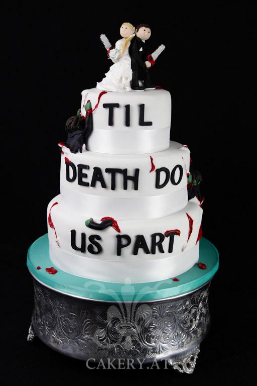Hochzeitstorte  Til Death  RITAThe Cakery Torten der