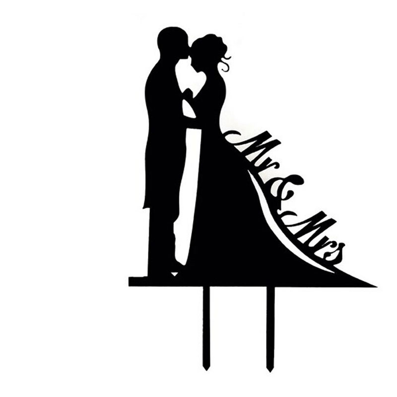 Cake Topper  Brautpaar Silhouette  knigliche
