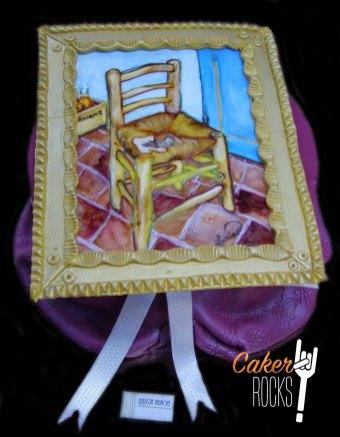 Tarta Van Gogh pintada a mano
