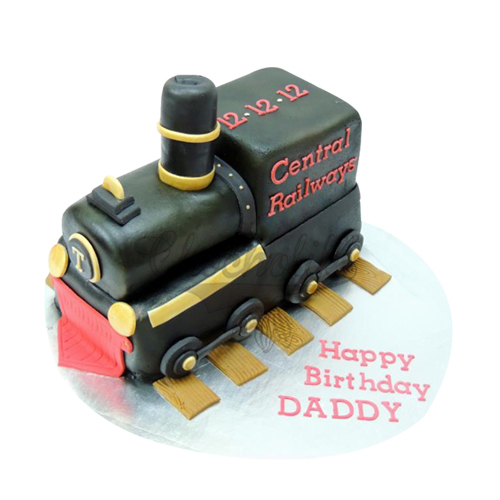 Black Engine Cake