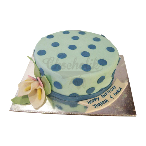 Blue Dots Cake