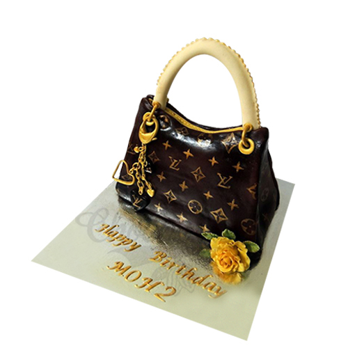 Brown Purse Cake