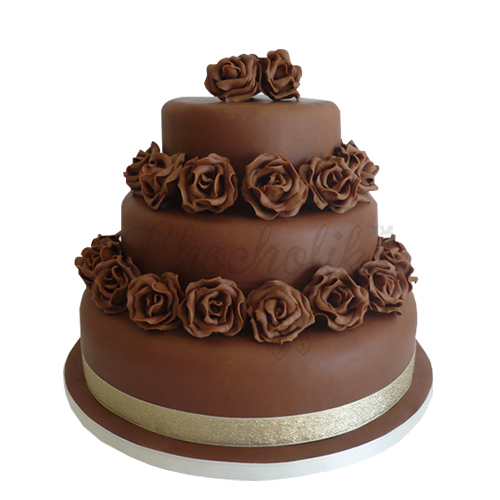 Chocolaty Flower Cake