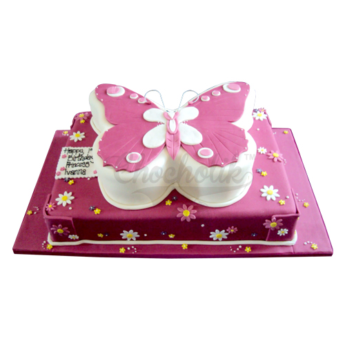 Pink Butterfly Cake