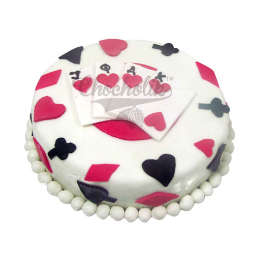 Playing Card Cake