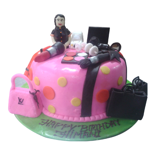 wonderfull makeup kit cake