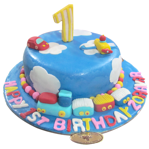 Sky First Birthday Cake | Chandigarh Cakes Delivery - Home Delivery ...
