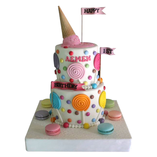 Colorful First Birthday Cake